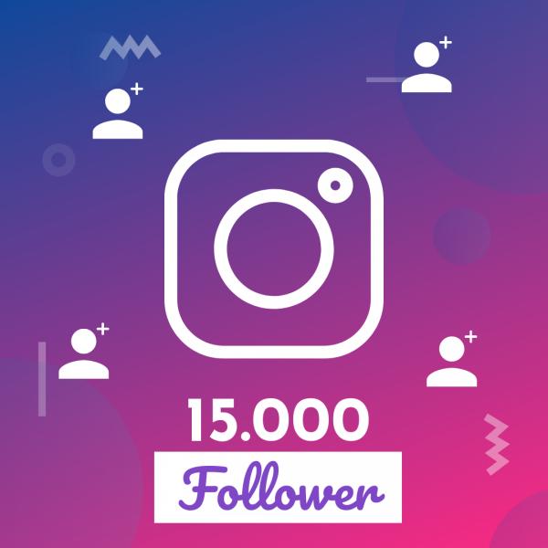 15.000 follower instagram